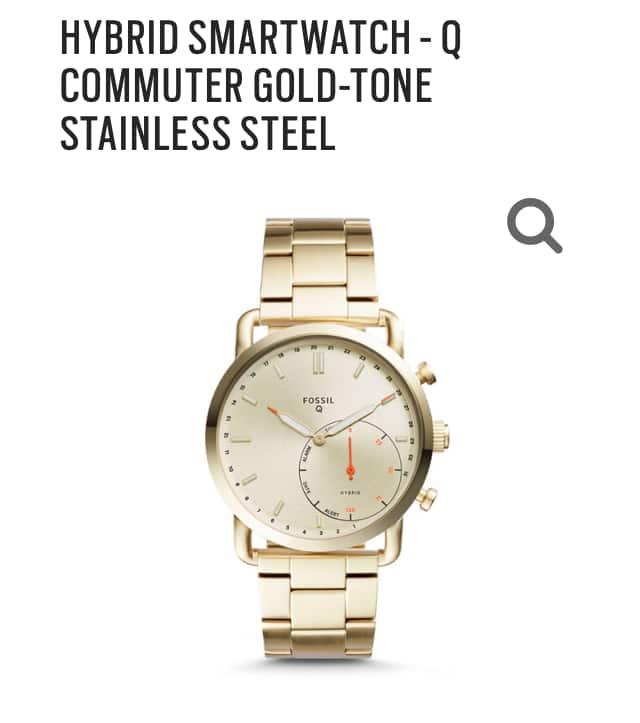 Fossil hybrid smart watch $95 shipping is free