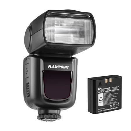Flashpoint Zoom Li-on R2 TTL On-Camera Flash Speedlight + Free ($46) Wireless Transmitter Remote (Godox V860II rebrand) $180 Total