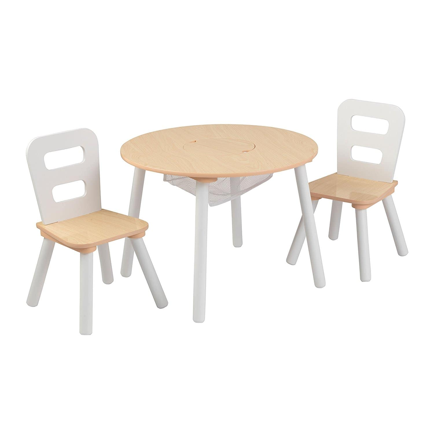KidKraft Round Table and 2 Chairs Set White/Natural - $34.29 or lower @ Amazon/Target FS