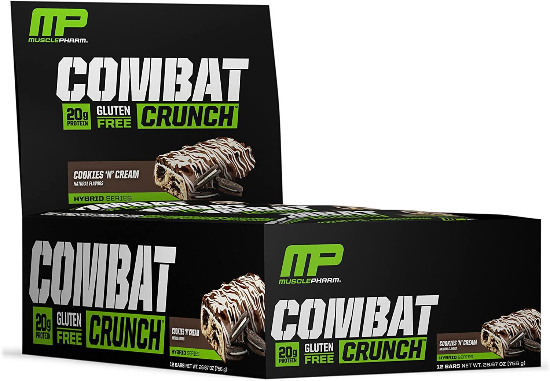 Muscle Pharm Cookies n Cream combat crunch protein bars S&S $14