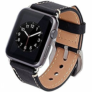 Apple Watch Band 42mm Black iWatch Band Strap for $10.44