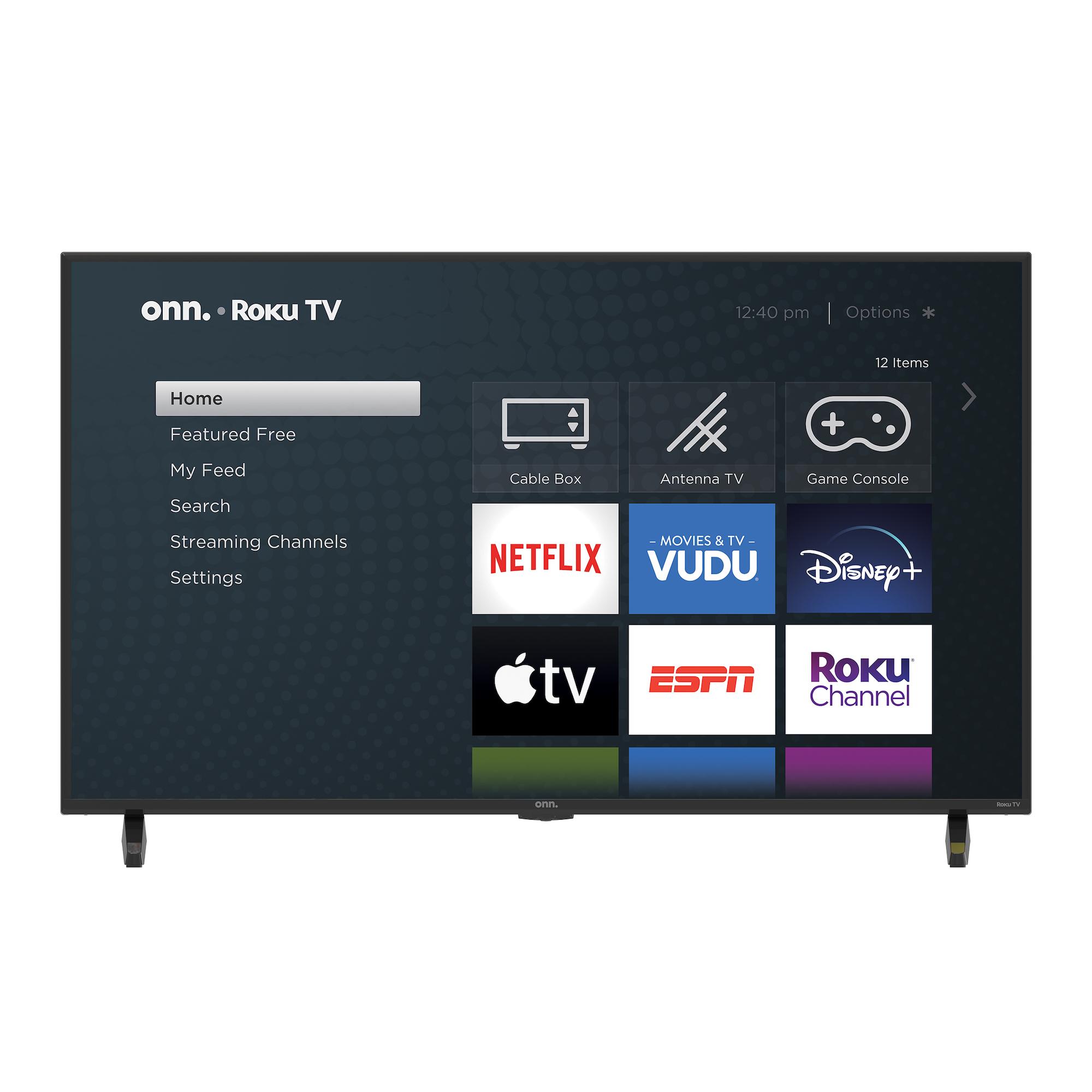 "onn. 43"" Class 4K UHD LED Roku Smart TV with HDR"
