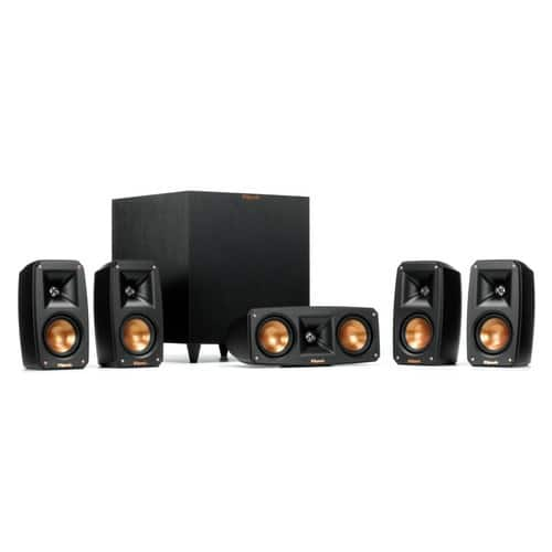 Klipsch Black Reference Theater Pack 5.1 Surround Sound System $695