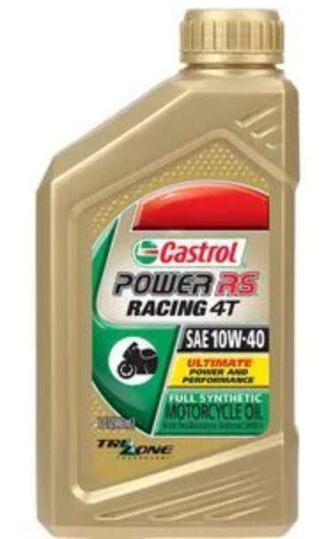 Castrol 10W-40 and 20W-50 Power RS Full Synthetic motorcycle