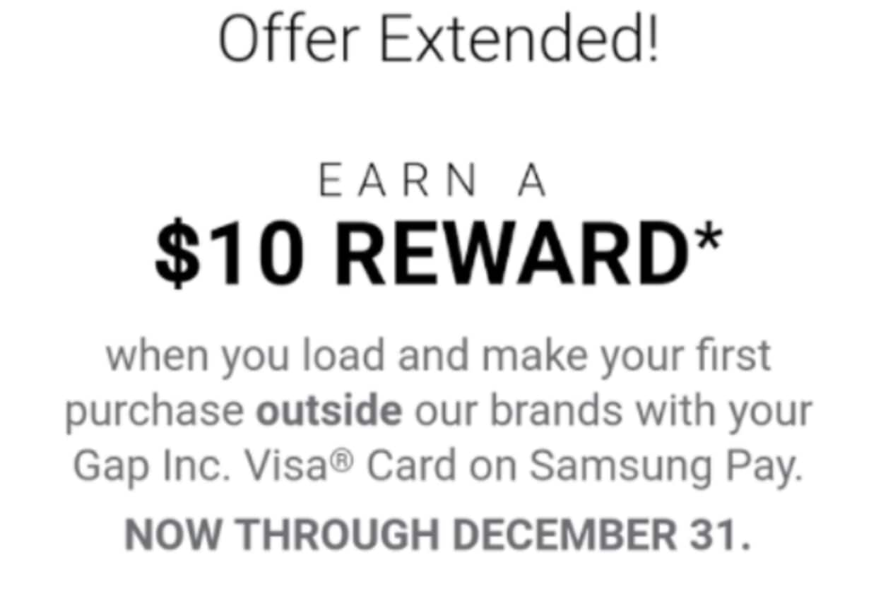 Gap/Banana Cardholders can Get up to $30 Bonus with Mobile Wallet Use