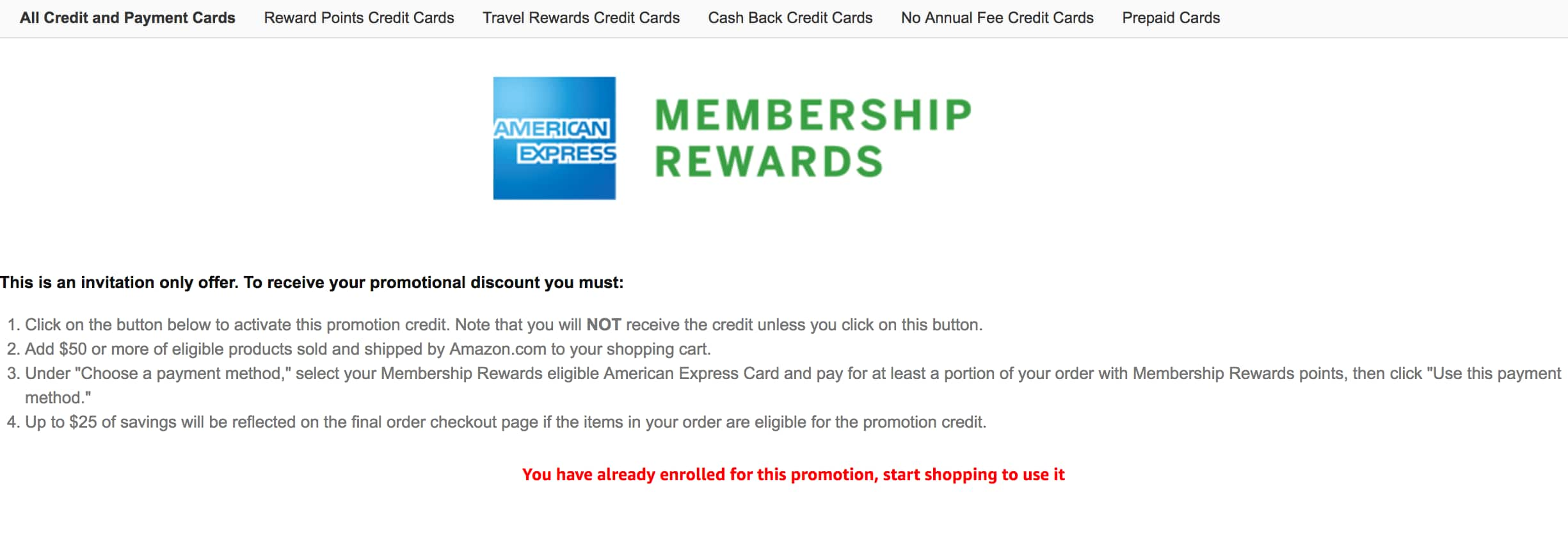 YMMV Amazon: Amex Membership Rewards Cardholders: Pay w/ Points $25OFF (BACK AGAIN)