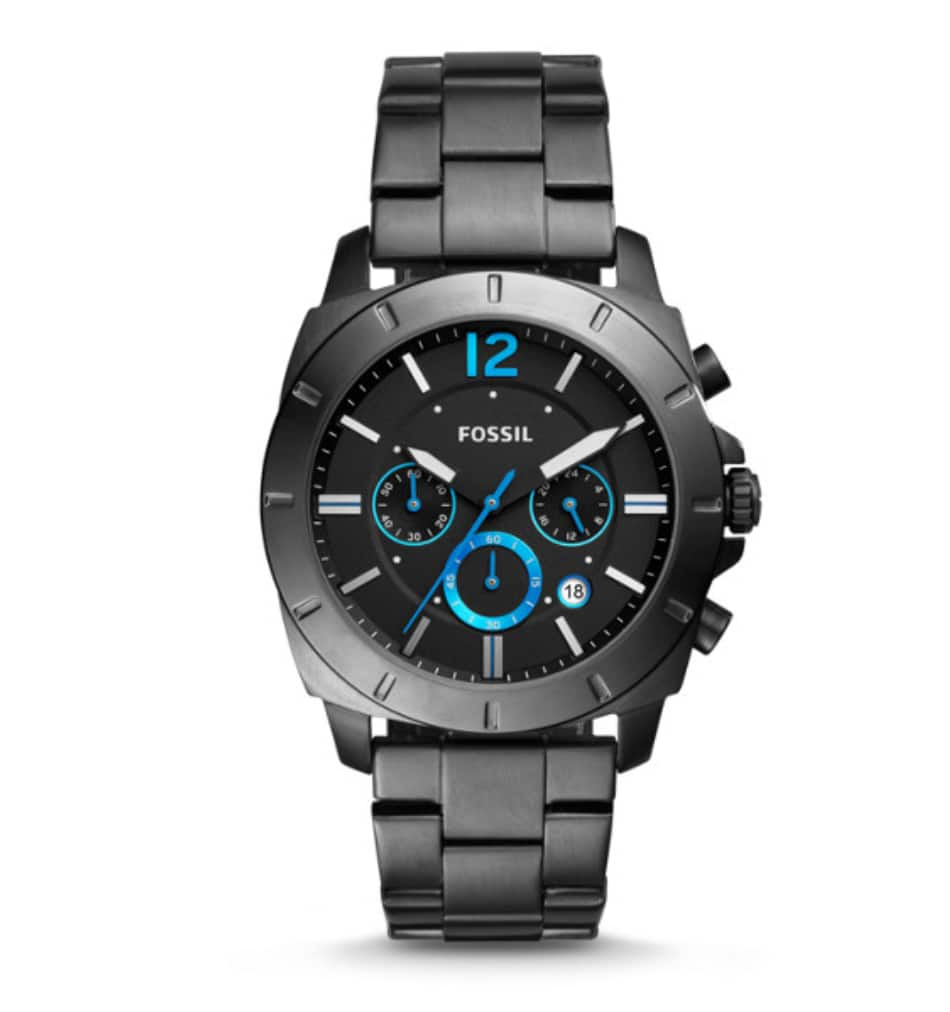 Fossil privateer sport chronograph smoke stainless steel watch (reg.$165) $49.5