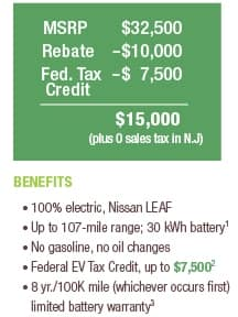 Pseg Customers Can Save 10 000 On A New 2017 Nissan Leaf Price 15000 Plus 0 S Tax In Nj