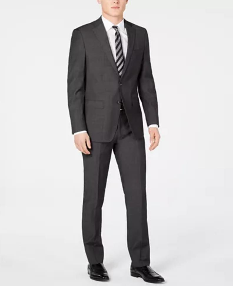 Macys Calvin Klein Men's Slim-Fit Charcoal Suit $89.99 + FS