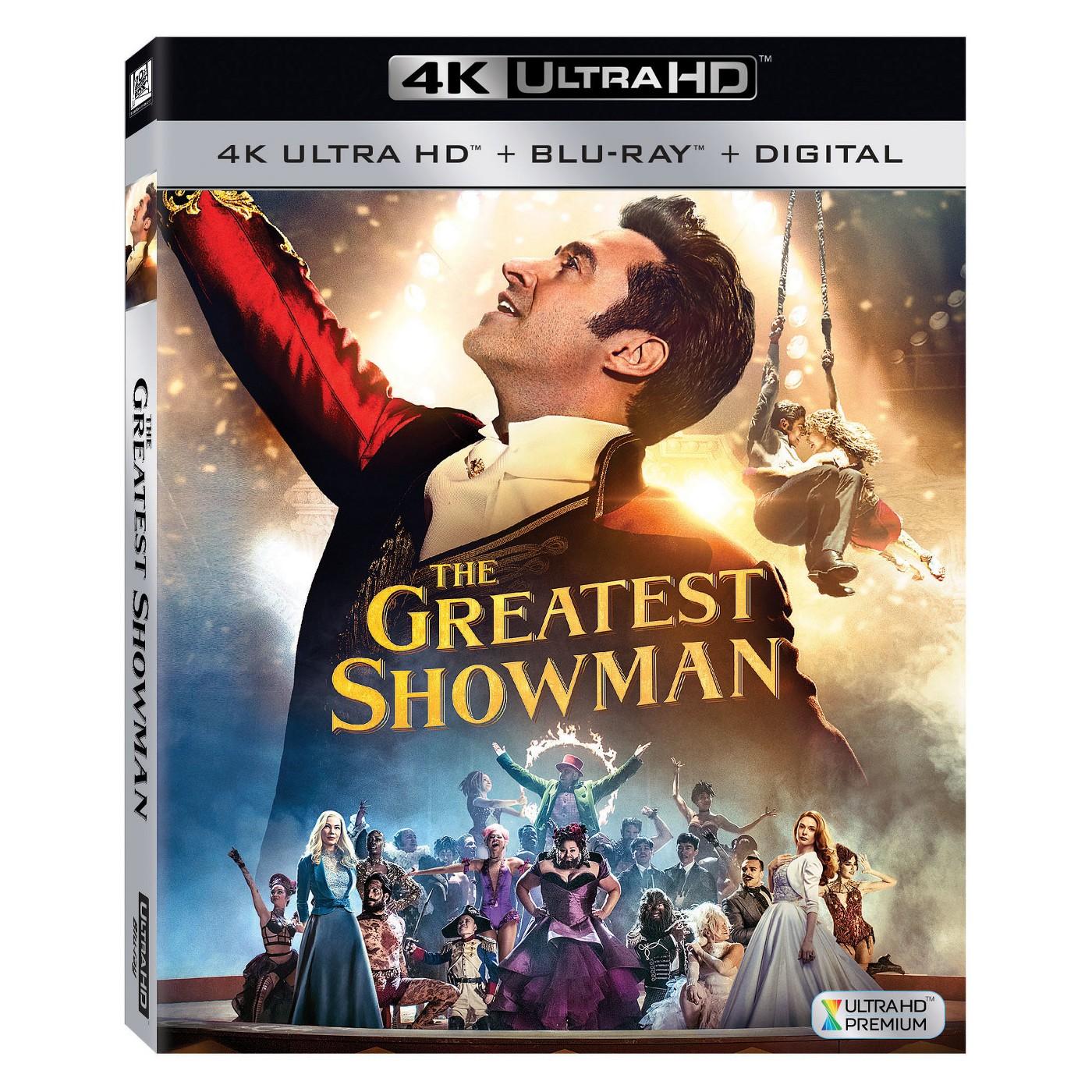 Greatest Showman 4k Ultra/ Blu-Ray + Digital (Target)  w/ rebate & Cartwheel