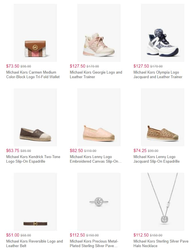 Today Only: 4/28/2021  Michael Kors Selected Styles on Sale Gift Ideas For Mother 25% Off Purchase