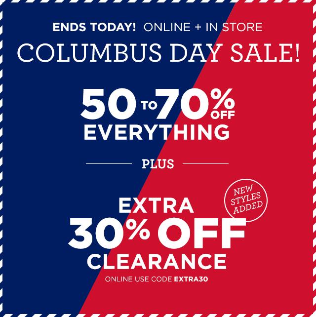 Aeropostale columbus day door buster sale -upto 70 % off $4.9
