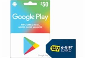Best Buy: Spend $50+ on Google Play or Hulu, Get $5 Best Buy Gift Card for Free