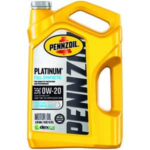 Pepboys Pennzoil full synthetic engine oil 5QT w/ $15 + $10 rebate $30.98
