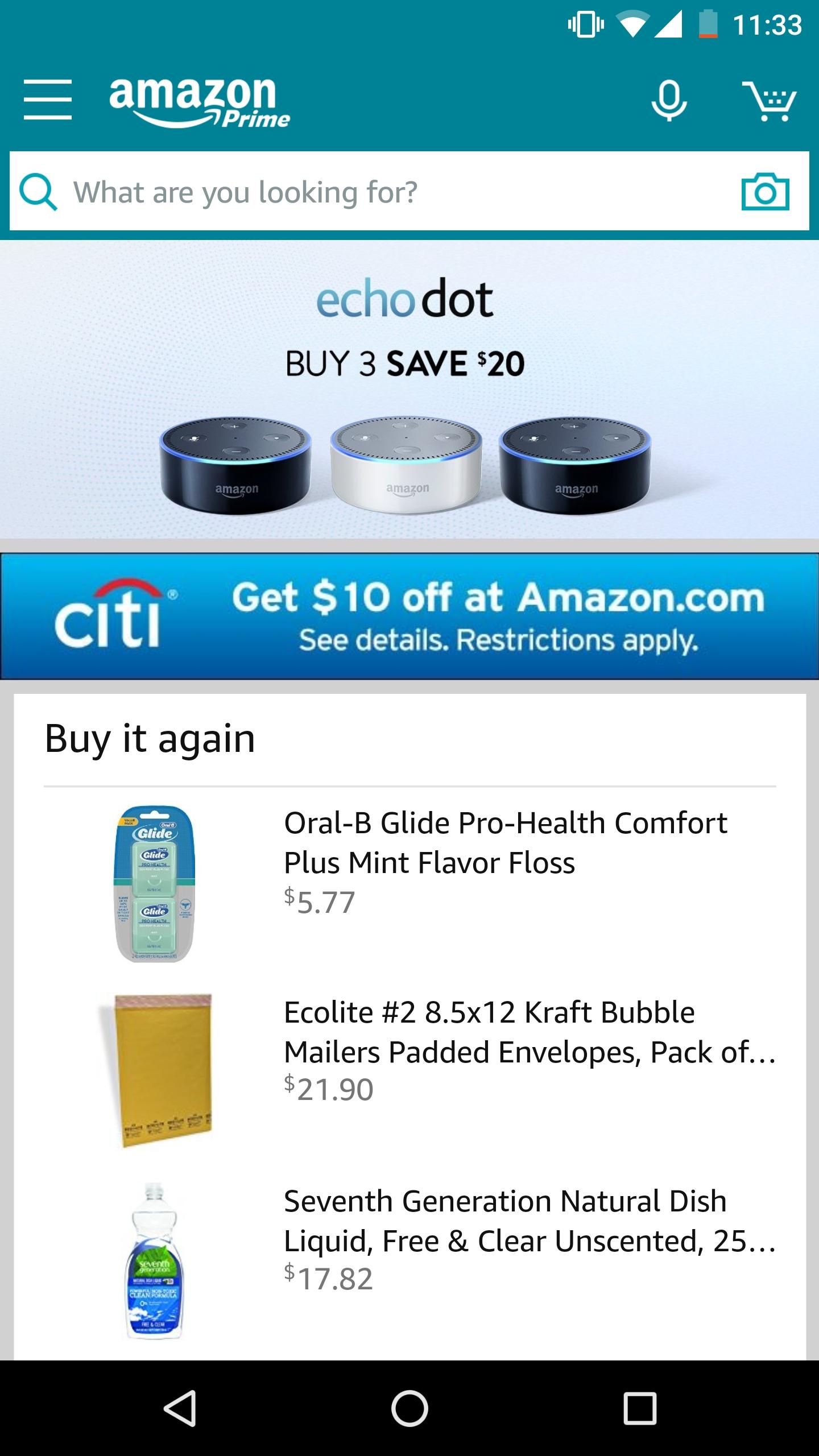 Amazon - Citi 1 click $10 promo ymmv