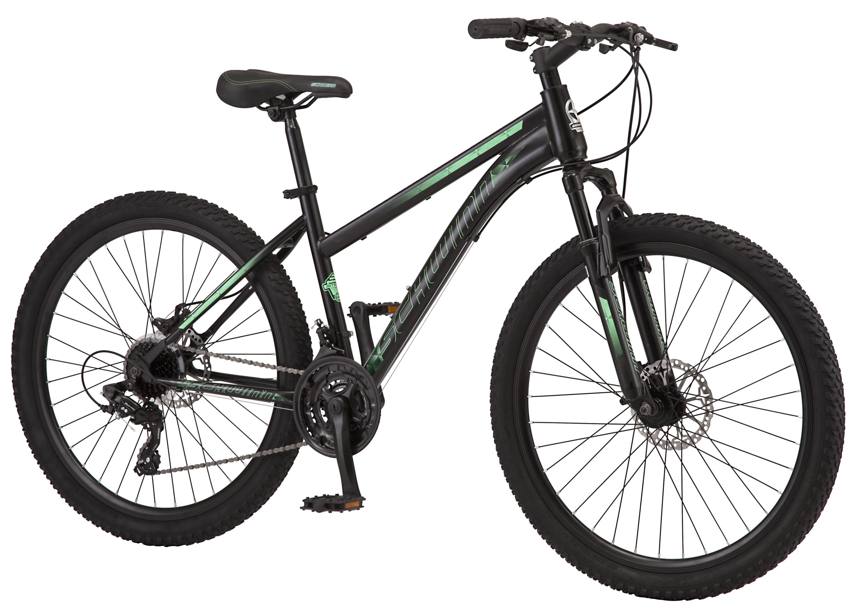 "Schwinn 26"" Sidewinder Schwinn Mountain Bike, Black/Green $197.99"