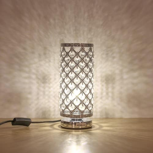 Crystal Table / Decorative / Reading Lamp Silver [B011] $13.99 AC + Free Ship Amazon Prime