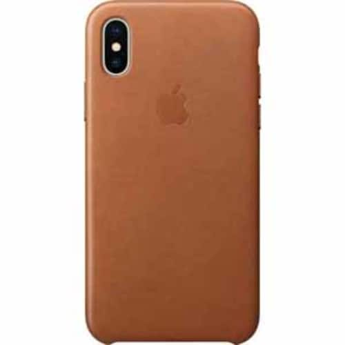 Apple Leather Case for iPhone X - Saddle Brown / Black $24 @ Target B&M YMMV