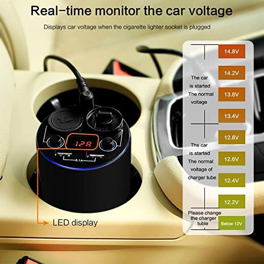 USB Car Essential Oil Diffuser Air Refresher Aromatherapy Diffusers with Car Cigarette Lighter Adapter Splitter + Dual USB Ports Car Cup Charger $5.95 AC FS Amazon Prime