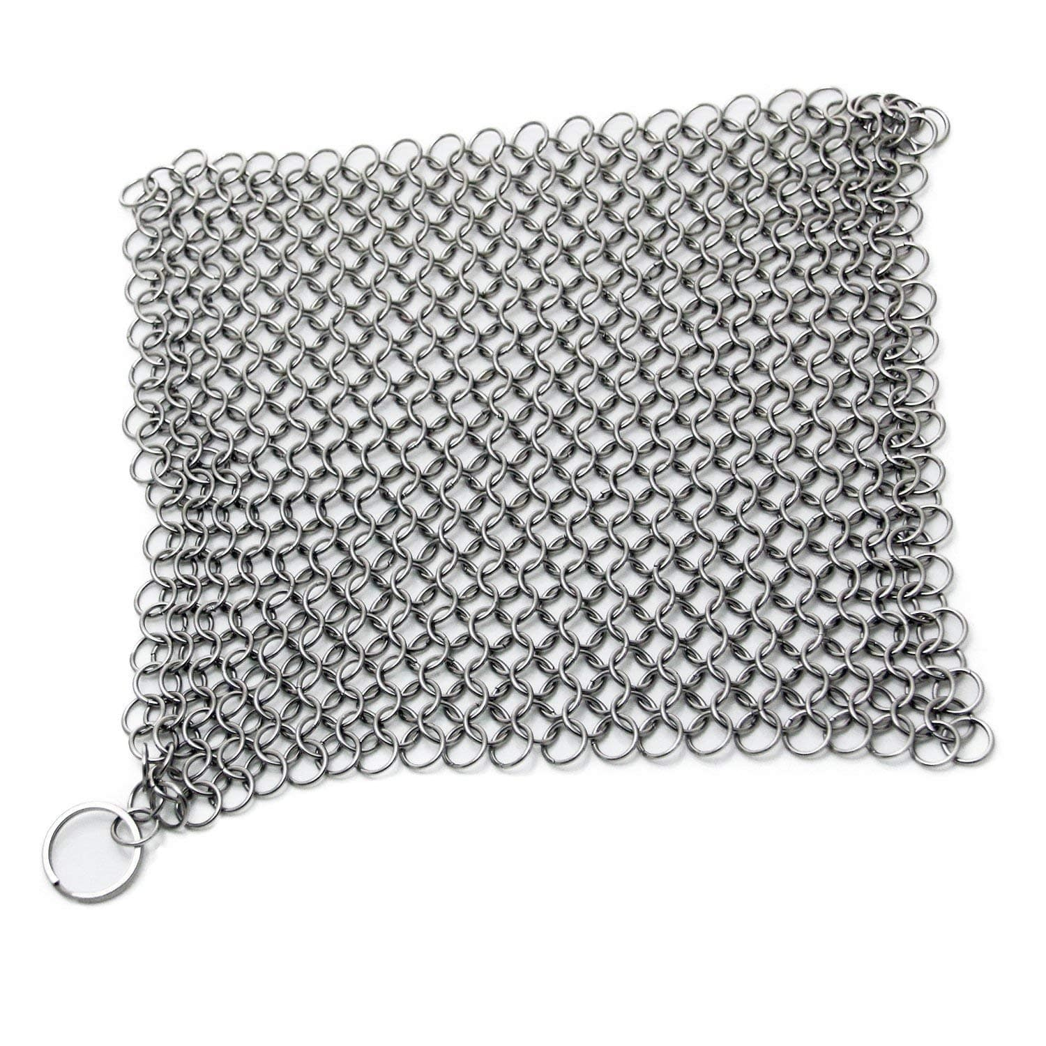 """8""""x6"""" Stainless Steel 316L Cast Iron Cleaner Chainmail Scrubber for Cast Iron Pan $6.49 AC FS Amazon Prime"""