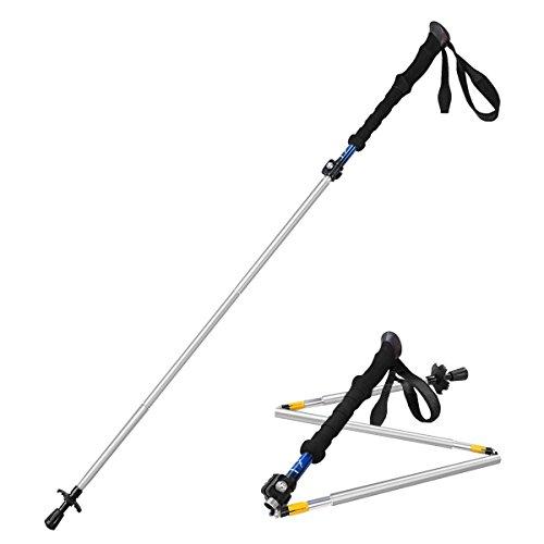 Adjustable Travel Hiking Walking Stick Trekking Pole with EVA Foam Handle $9.99 AC FS Amazon Prime
