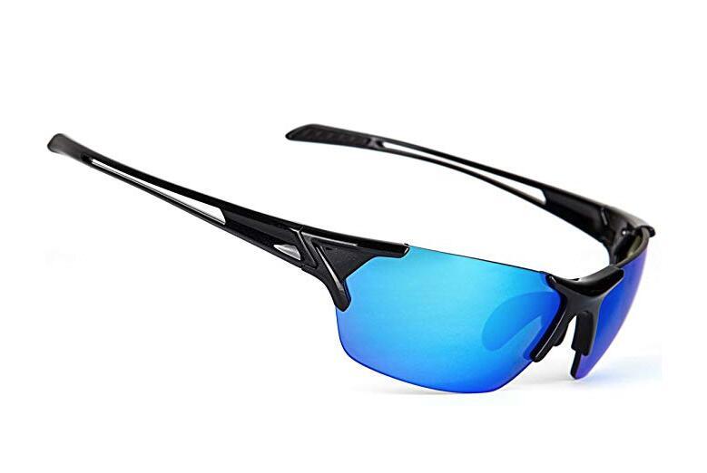Unisex Polarized Sports Sunglasses Mirrored Integrated Polarized Lens Unbreakable Frame $8.99 AC FS Amazon Prime