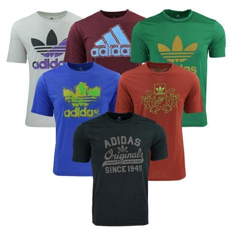 Adidas Mystery Graphic Tees - 5-pack + Free Shipping $35
