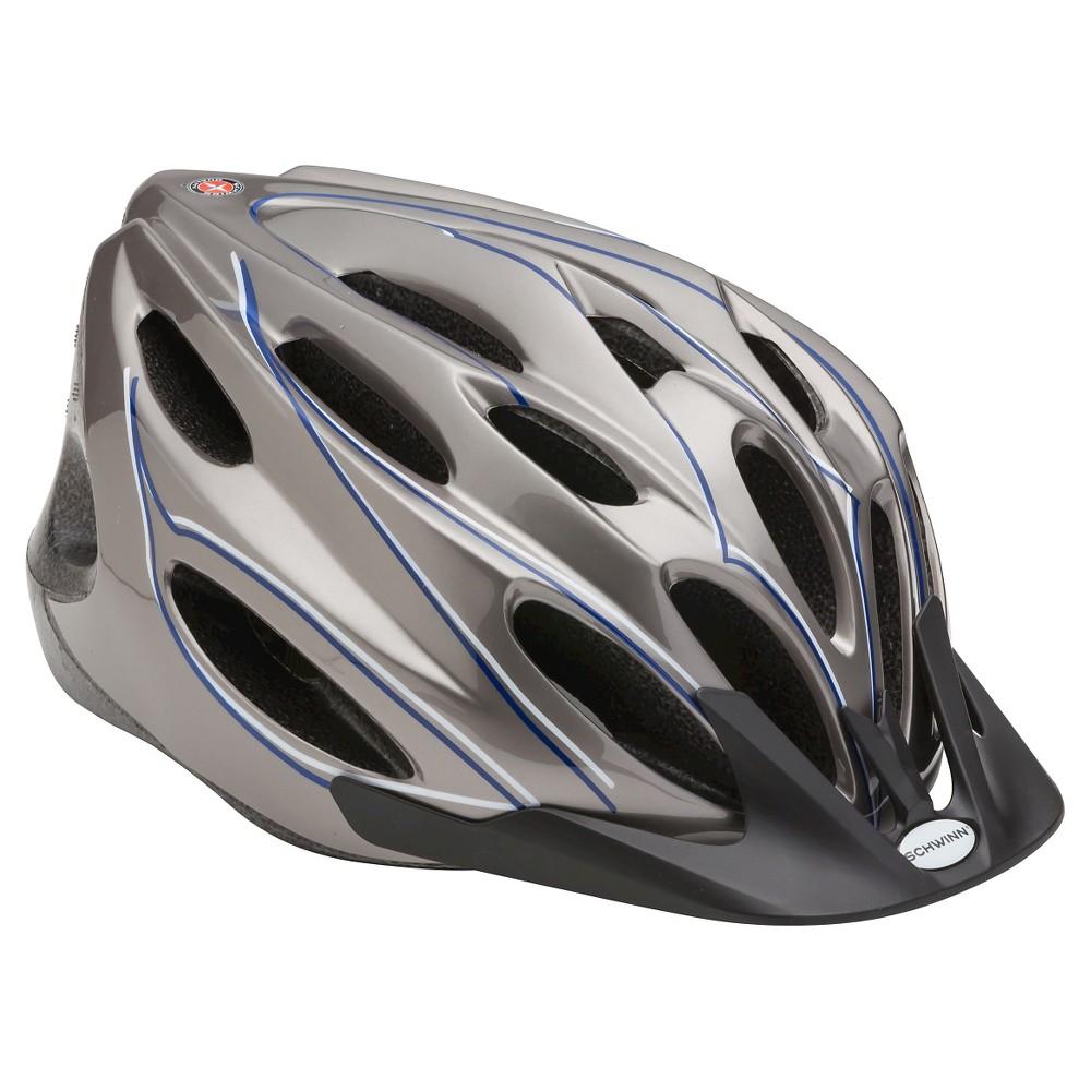 Schwinn Adult Trailway Helmet- Silver $6.99 YMMV