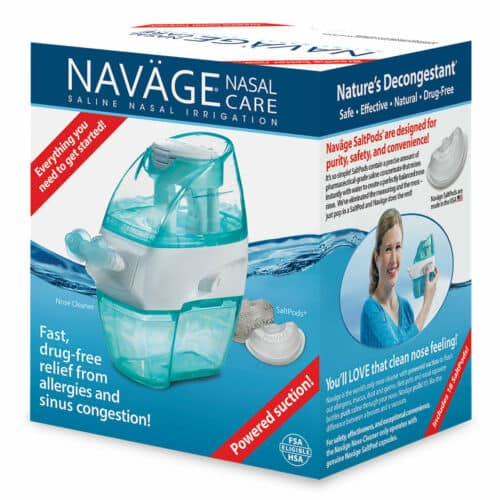 Navage Soft-Click Factory-Second Bundle factory clearance: $29.95 (repost of previously sold-out deal). Normal retail $90+.