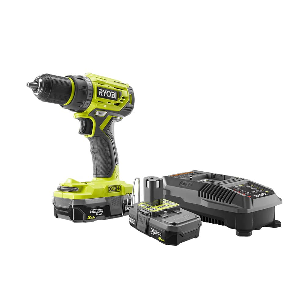 RYOBI ONE+ 18 Volt Lithium-Ion Brushless 1/2 In. Drill Driver Kit CPO - $69.99