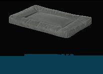 Helix Durable Bolster Rectangular Dog Bed, Dark Gray X-Large $26.82