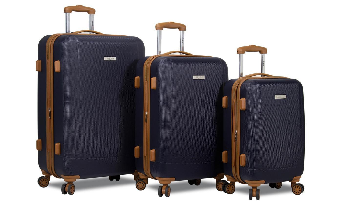 Dejuno Legion Hardside Spinner Combination-Lock Luggage Set (3-Piece) $115
