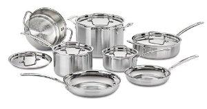 BJs B&M: Cuisinart MCP-12N 12 piece stainless steel cookware $150