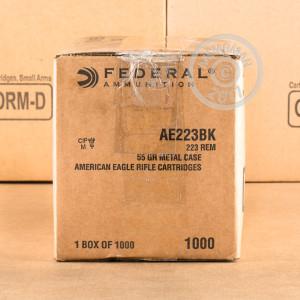 Ammuntion: 1,000rnds .223rem 55gr Federal Brass Cased FMJBT $266AR Shipped