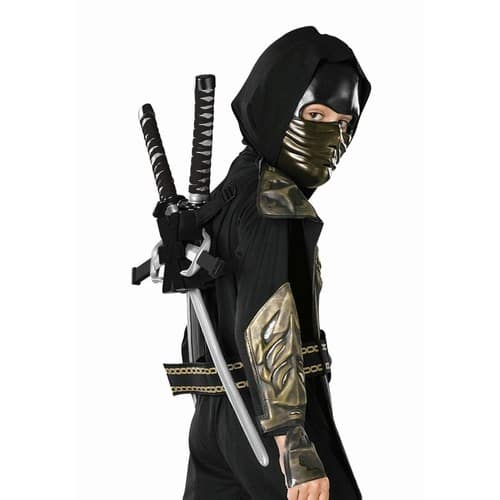 Child Costume Black Ninja Backpack Halloween Costume Accessory $1.83