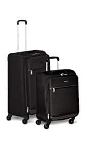 AmazonBasics Softside Spinner Luggage 2pc Set $59.99