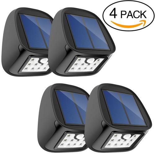 Aptoyu 10-LED Motion-Sensor Solar Light 4pk $16.99