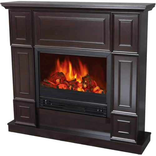 "Electric Fireplace with 44"" Mantle (Black) + In-Store Pick Up"