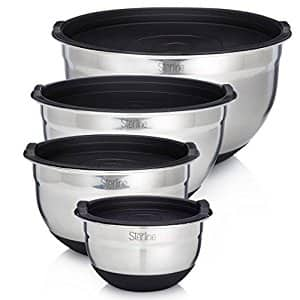 Sterline Stainless Steel Mixing Bowl 4pc Set w/ Free Shipping $20.99