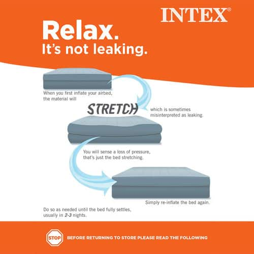 "Intex Twin 8.75"" Inflatable Airbed Mattress w/ 2-Day Shipping $7.97"