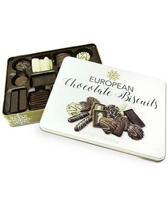 R.H. Macy & Co. Euro Chocolate Biscuit Tin $4.83