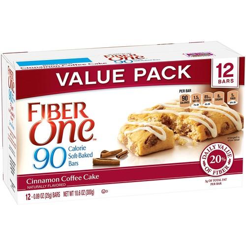 Fiber One 90 Calorie Bar 48-Count [Cinnamon Coffee Cake] $14.65