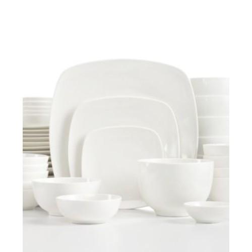 Gibson White Elements Hampton Square 42-Piece Dinnerware Set $39.99
