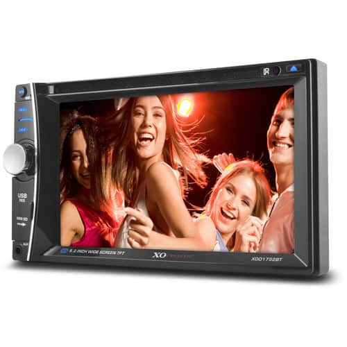 "XO Vision XOD1752BT In-Dash 6.2"" Touch Screen Multimedia DVD Receiver with Bluetooth $69"