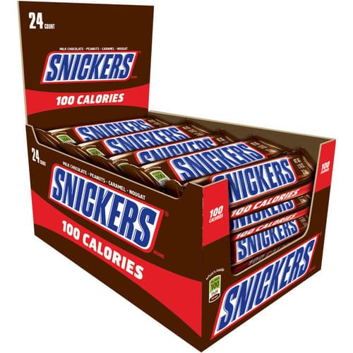 Snickers 100-Calorie Candy Bar 24-Count Box $10.5