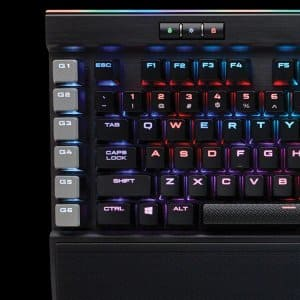 Corsair K95 RGB PLATINUM Mechanical Keyboard, Cherry MX Speed $159.99