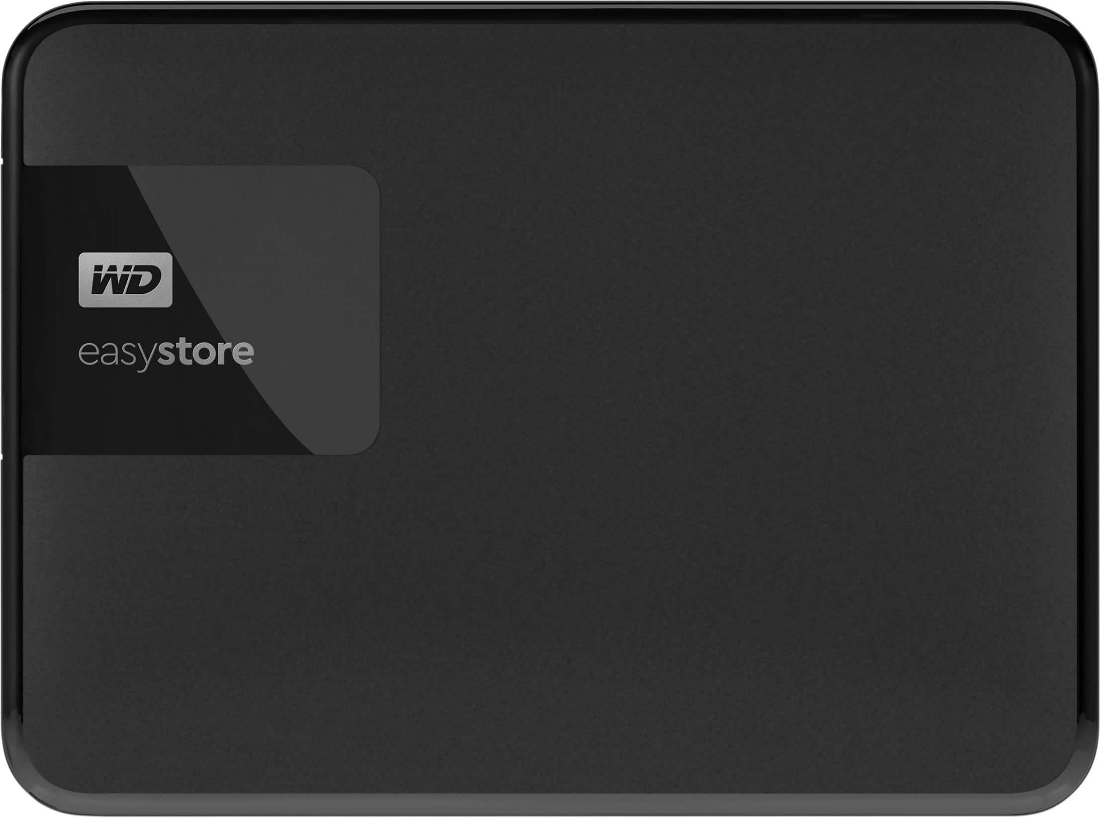 WD - easystore® 4TB External USB 3.0 Portable Hard Drive - Black $99.99