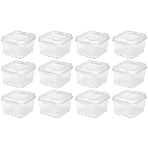 Marked Down Again 12 Pack Sterilite 18038612 Plastic FlipTop