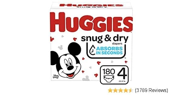 2 Boxes Huggies Snug & Dry Baby Diapers, Size 4 as low as 14.6 cents per diaper