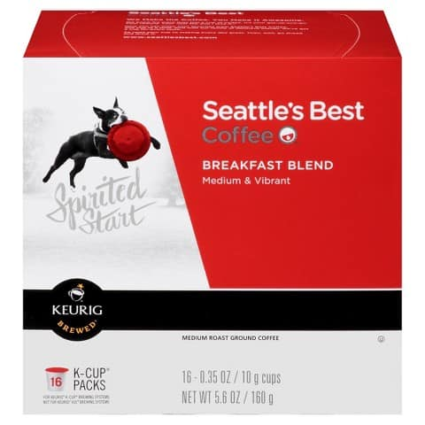 Seattle's Best Coffee K-Cups 16-Count $4.42 after coupon/gift card Free Shipping 6 boxes minimum